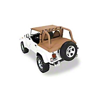 Pavement Ends Cargo Cover, Black Denim (92-95 Wrangler YJ) - Pavement Ends 41815-15