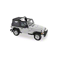 Pavement Ends Flip Top - Clear Windows, Black Denim (97-06 Wrangler TJ) - Pavement Ends 44527-15
