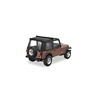 Pavement Ends Flip Top - Clear Windows, Black Denim (87-95 Wrangler YJ) - Pavement Ends 44583-15
