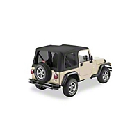 Pavement Ends Replay Top w/ Tinted Windows, Black Denim (97-02 Wrangler TJ w/Steel Full Doors) - Pavement Ends 51148-15
