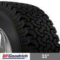 BF Goodrich All Terrain T/A KO 33X10.50R15 (87-15 Wrangler YJ, TJ & JK) - BF Goodrich 63540