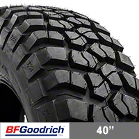 BF Goodrich Mud Terrain T/A KM2 40X14.50R17 (87-15 Wrangler YJ, TJ & JK) - BF Goodrich 10977