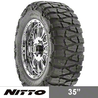 NITTO Mud Grappler 35x12.50R17 (87-15 Wrangler YJ, TJ & JK) - NITTO 200-670