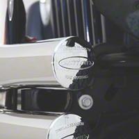 Smittybilt Tubular Rear Bumper w/ Hitch, Stainless Steel (07-15 Wrangler JK) - Smittybilt JB48-RHS