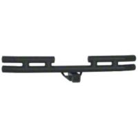 Smittybilt Tubular Rear Bumper w/ Hitch, Textured Black (07-15 Wrangler JK) - Smittybilt JB48-RHT