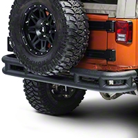 Smittybilt Tubular Rear Bumper, No Hitch, Textured Black (07-13 Wrangler JK) - Smittybilt JB48-RT