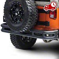 Smittybilt Tubular Rear Bumper, No Hitch, Textured Black (07-16 Wrangler JK) - Smittybilt JB48-RT