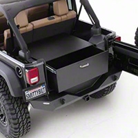 Smittybilt Security Storage Vault - Rear Lockable Storage Box (87-06 Wrangler YJ & TJ) - Smittybilt 2761