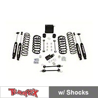 TeraFlex 3 in. Lift Kit w/All (4) 3-4 in. Shocks, Steering Skid Plate, Quick Disconnects (97-06 Wrangler TJ) - Teraflex 1241300