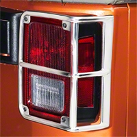 Smittybilt Euro Tail Light Guards - Stainless Steel (07-16 Wrangler JK) - Smittybilt 8465