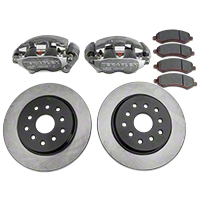 TeraFlex Big Brake KIT Front Complete with Big Calipers and 13.3 In. PLAIN Rotors (07-13 Wrangler JK) - Teraflex 4303400