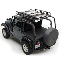 Smittybilt SRC Roof Rack - 300 lb Rating - Black Textured (04-06 Wrangler TJ Unlimited) - Smittybilt 76715