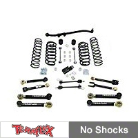 TeraFlex 3in. Lift Kit w/FlexArms, Front Trackbar No Shocks (97-06 Wrangler TJ) - Teraflex 1456350