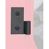 Smittybilt Lower Door Hinge Brackets - Black (87-06 Wrangler YJ & TJ) - Smittybilt 7607