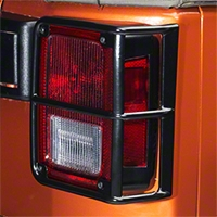Smittybilt Euro Tail Light Guards - Black (07-13 Wrangler JK) - Smittybilt 8665