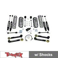 TeraFlex 4 in. Lift Kit w/Lower FlexArms, All (4) 4 in. Shocks (97-06 Wrangler TJ) - Teraflex 1456432
