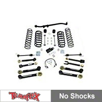 TeraFlex 4in. Lift Kit w/FlexArms, Front Trackbar, No Shocks (97-06 Wrangler TJ) - Teraflex 1456450