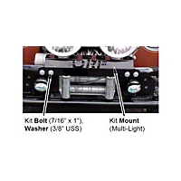 OR-Fab Wrinkle Black Multi-Light Mount Kit (87-06 Wrangler YJ & TJ) - OR-Fab 87011