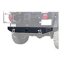 OR-Fab Rockslider Sheetmetal Rear Bumper, Wrinkle Black (97-06 Wrangler TJ) - OR-Fab 83640