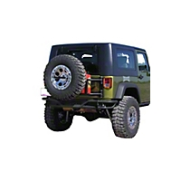 OR-Fab Swing Away Tire/Can Carrier, Wrinkle Black (07-13 Wrangler JK) - OR-Fab 85207