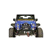OR-Fab Wrinkle Black Front Stinger Bumper w/Offset Winch Mount (07-13 Wrangler JK) - OR-Fab 83211