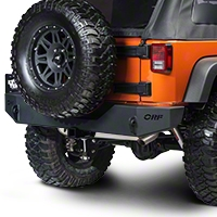 OR-Fab Sheetmetal Rear Bumper, Wrinkle Black (07-13 Wrangler JK) - OR-Fab 83208