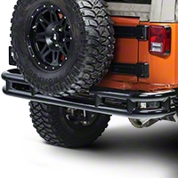 Smittybilt Tubular Rear Bumper, No Hitch, Gloss Black (07-15 Wrangler JK) - Smittybilt JB48-R