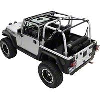 Smittybilt SRC Cage Kit - 7 Piece - Gloss Black (97-06 Wrangler TJ) - Smittybilt 76900
