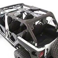 Smittybilt SRC Cage Kit - 6 Piece - Gloss Black (07-10 Wrangler JK 4 Door) - Smittybilt 76902