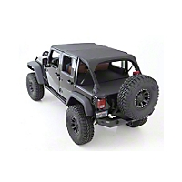 Smittybilt Outback Wind Breaker, Black Diamond (07-13 Wrangler JK 4 Door) - Smittybilt 90335