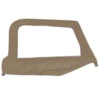 Smittybilt Soft Top Door Skin w/ Frame, Clear Windows, Driver Side, Spice Denim (97-06 Wrangler TJ) - Smittybilt 79417