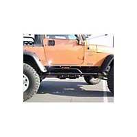 OR-Fab ROCK SLIDER SIDE BAR, BICYCLE BLACK FINISH (87-95 Wrangler YJ) - OR-Fab 84095BB