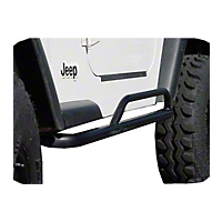 OR-Fab Rock Slider Side Bar, Bicycle Black (97-06 Wrangler TJ) - OR-Fab 84100BB