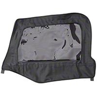 Smittybilt Soft Top Door Skins Only, Clear Windows, Black Diamond (97-06 Wrangler TJ) - Smittybilt 89735