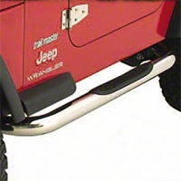 Smittybilt Sure Steps 3 in. Side Bar, Stainless Steel (97-06 Wrangler TJ) - Smittybilt JN460-S2S
