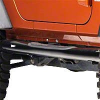 Smittybilt Sure Steps - 3 In. Side Bar - Gloss Black (07-13 Wrangler JK 2 Door) - Smittybilt JN48-S2B
