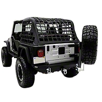 Smittybilt XRC Rear Swing Away Tire Carrier, Textured Black (87-06 Wrangler YJ & TJ) - Smittybilt 76654