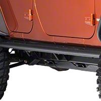 Smittybilt SRC Classic Rock Rails (OEM Style) W/ Step- Black Textured (07-15 Wrangler JK 4 Door) - Smittybilt 76639