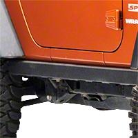 Smittybilt SRC Classic Rock Rails (OEM Style) - Black Textured (07-15 Wrangler JK 2 Door) - Smittybilt 76635