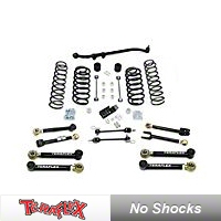 TeraFlex 3in. Lift Kit w/Front Lower & Rear Upper FlexArms, Trackbar, No Shocks (07-13 Wrangler JK 2 Door) - Teraflex 1156222