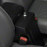 Tuffy Series II Rear Half Security Console, Black (97-06 Wrangler TJ) - Tuffy 044-01