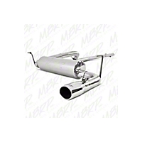 MBRP Cat Back, Single Rear Exit, T409 Stainless Steel, 3.6L (12-13 Wrangler JK Rubicon) - MBRP S5526409