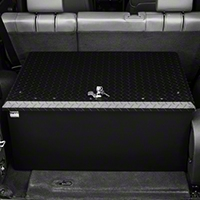 Tuffy Rear Cargo Aluminum Storage Box, Black (87-13 Wrangler YJ, TJ & JK) - Tuffy 054-01