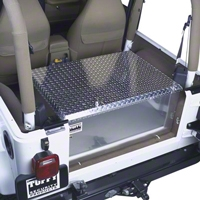 Tuffy Rear Cargo Aluminum Storage Box, Mill Finish (87-95 Wrangler YJ, 97-13 Wrangler TJ & JK) - Tuffy 054-07