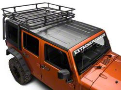 Off Camber Fabrications by MBRP Cargo Basket Kit, Black Coated (07-10 Wrangler JK 4 Door)