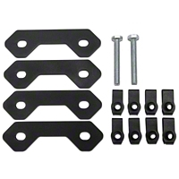 MBRP Spare Tire Bracket Reinforcing Kit, Black Coated (07-10 Wrangler JK) - MBRP 130903