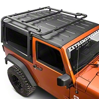 MBRP Roof Rack System, Black Coated (07-10 Wrangler JK 2 Door) - MBRP 130927
