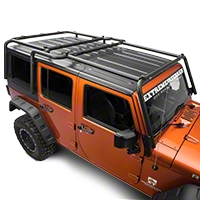 MBRP Front Roof Rack Extension, Black Coated (07-10 Wrangler JK 4 Door) - MBRP 130934