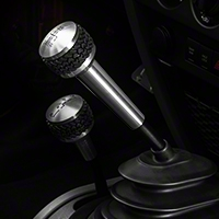 Drake Off Road 6 Speed Shift Knob, Brushed Finish (05-10 Wrangler TJ & JK) - Drake Off Road JP-180012-BL