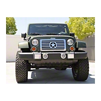 T-REX Custom Series Stainless Grille, Center Star Design (07-13 Wrangler JK) - T-REX 66481
